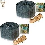 BricoLoco Protección insecticida árboles. Banda Libre de Veneno. Protege contra Insectos, orugas, Hormigas, procesionarias, arañas… Frutales y Ornamentales. (2 uds. x 175x10 cms.)