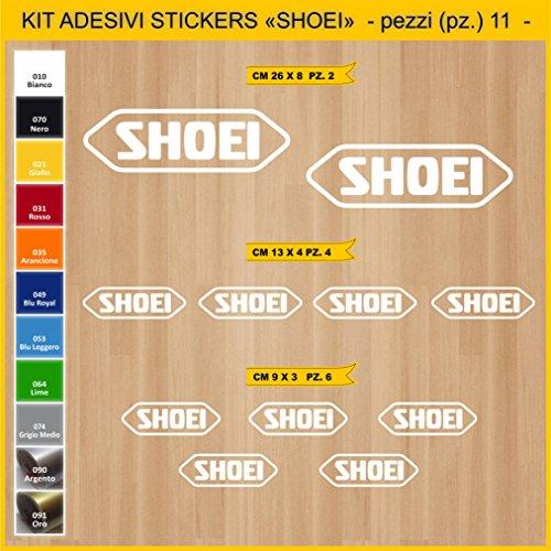 Adesivi Stickers SHOEI -Pezzi 11- Sponsor Tecnici Moto Motorbike cod.0752 (010 Bianco)