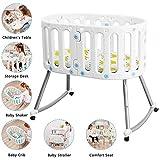 Multifuncional Trona, Cuna-bebé Cuna Cama plegable de plástico de empalme de cama puede ser dividido en Silla de comedor Mesa de aprendizaje adecuado for niños de 0-10 YZPXDD