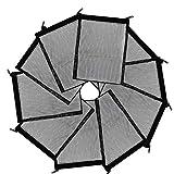 SkyPig - Bolsa para filtros con cremallera para acuario y bolsas de malla para anillos de cerámica de biosfera de carbón activado
