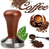 <span class='highlight'><span class='highlight'>Letilio</span></span> Coffee Tamper,Stamping Plate:58 mm, planar with Brown Wooden Handle