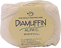 ダイヤモンド毛糸 ダイヤマフィン 毛糸 合太 col.6 クリーム 系 40g 約136m