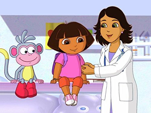 Dora bei der Kinderärztin