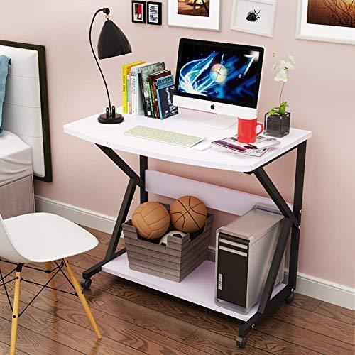 YLCJ Mesa de Juegos móvil para el hogar, Mesa de computadora compacta con Forma de k Mesa de Oficina para computadora portátil Mesa de Estudio para Trabajo Pesado para Espacios pequeños-f