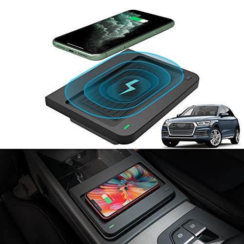 Auto Accessories Navigation Bracket Interior Decoration Mobile Cell Mirror Phone Mount LUNQIN Car Phone Holder for 2010-2016 Audi Q5 SQ5 Big Phones with Case Friendly