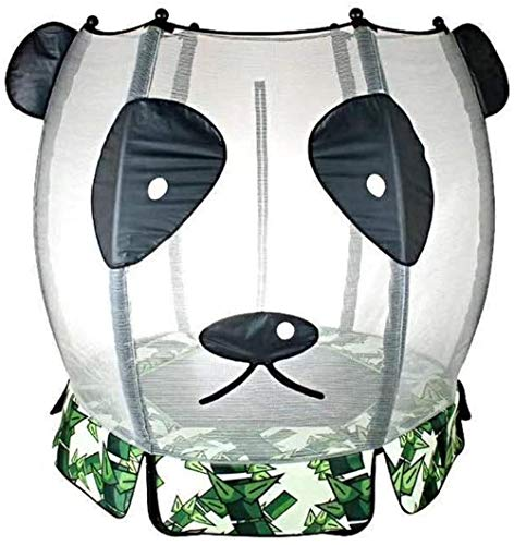 Panda Trampoline met Safety Enclosure Net Kids Trampoline Outdoor Indoor Mini Trampolines for Kids 140X126cm (Upgrade)