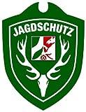Waidmannsbruecke Unisex– Erwachsene Jagdschutz Nordrhein-Westfalen Autoschild, Grün, One Size