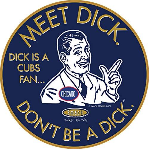 Milwaukee Baseball Fans. Don't be a D!ck (Anti-Cubs). Navy Sticker (3-Pack)