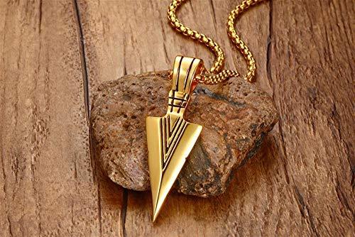 GXju- Furniture Trendy Stainless Steel Dagger Anhänger Kette Silber Farbe Schwert Männer Punk Hiphop Rock-Geschenke Modeschmuck Halsketten Die Beste Urlaub Geschenke for Familie und Freunde