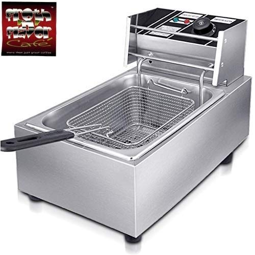 FROTH & FLAVOR 6 Liters 2000W Electric Deep Fryer, Silver