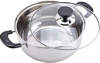 Sopa Pot - Fogón sopa de olla de acero inoxidable grueso del pote del hogar Cocina Pot Gas Gas Vapor con Universal (Tamaño: 22 cm) Jzx-n (Size : 20cm)