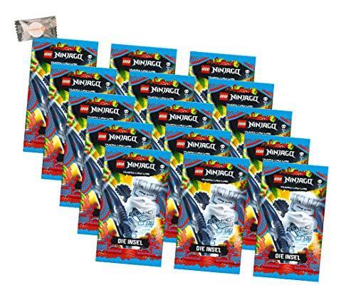 Lego Ninjago Karten Trading Cards Serie 6 - Die Insel (2021) - 15 Booster + stickermarkt24de Gum