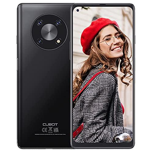 CUBOT Max 3 Smartphone sin contrato 4 + 64 GB, pantalla HD de 6,95 pulgadas, batería de 5000 mAh, cámara AI DREI de 48 MP, 4G LET Dual SIM, Android 11 NFC, GPS Face ID – Negro