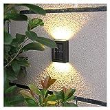 WHBGKJ Lámparas de Pared Luces de Valla Solar con Blanco y cálido Blanco Solar al Aire Libre. DIRIGIÓ Luz de Paso de Pared para la Cerca Puerta Delantera Patio Garden
