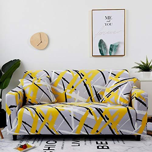 Fundas de sofá elásticas Protector de Muebles elástico Funda de sofá l Funda de sillón para Sala de Estar 1/2/3/4 plazas A11 2 plazas