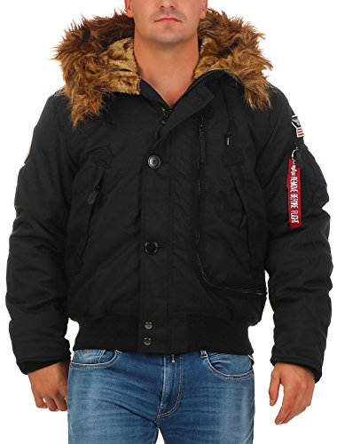 ALPHA INDUSTRIES Herren Polar Jacket SV Jacke, Schwarz (Black 03), Large