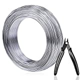Aluminum Wire, Anezus 18 Gauge 328 FT Metal Wire Bendable Sculpting...