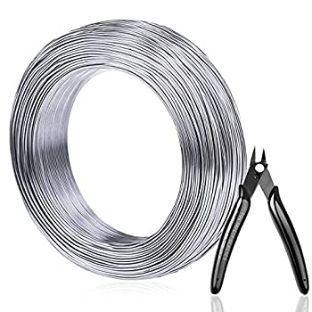 Aluminum Wire Anezus 18 Gauge 328 FT Metal Wire Bendable Sculpting Aluminum Wire 1mm for Crafts Jewelry Making Beading Floral  Silver