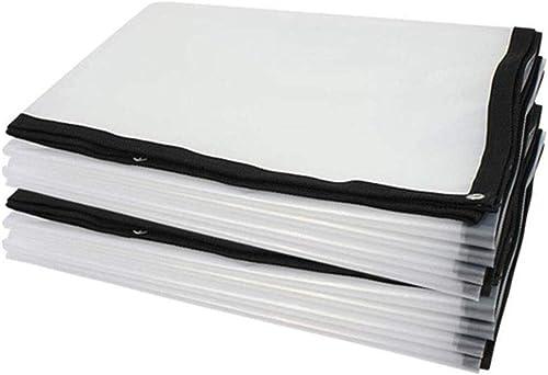 Liul Baches De Prougeection Feuille De Bache Imperméable Plastique Toile D'ombre Transparent Balcon Bloquer La Pluie Polyvalent,Plusieurs Tailles,blanc-4×8m