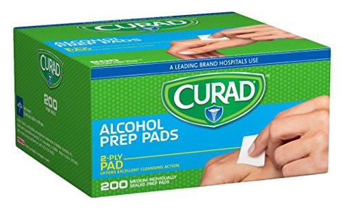 Price comparison product image Medline CUR45581RB Curad Alcohol Prep Pads 200 Ea (1 Box)