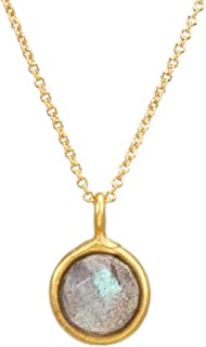 "Dogeared Infinite Possibilities Ouroboros Labradorite Necklace 16"" with 2"" Extender"