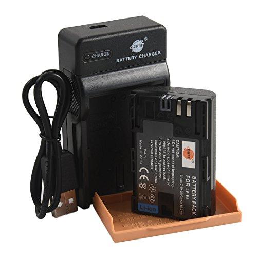 DSTE LP-E6 Li-Ionen Batterie und Micro USB Ladegerät Anzug kompatibel mit Canon EOS 5D Mark II III 5DS 5DS R 6D 7D 60D 60Da 70D 7D Mark II III