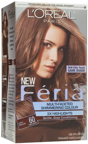 L'Oreal Paris Feria Multi-Faceted Shimmering Colour 3X Highlights, Level 3 Permanent, Light Brown/Natural 60 (Pack of 3)