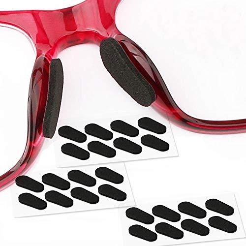 メガネ鼻パッド シール 鼻に跡がつかない ぱふっと メガネずり落ち防止 柔らかい 12ペア ブラック