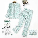 STJDM Bata de Noche,Invierno 100% Conjuntos de Pijamas de algodón Ropa de Dormir de Mujer Primavera otoño Corea Dulce Dibujos Animados Pijamas de algodón Puro Pijamas S BlueSheepW1