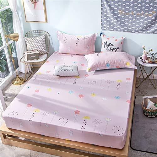 haiba Sábana bajera lisa de alta calidad, suave y acogedora, ropa de cama, cama tamaño king, 150 x 200 + 30 cm