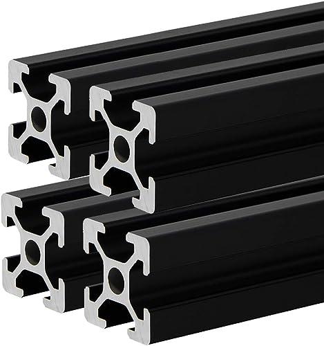 4 Pcs 2020 CNC 3D Printer Parts European Standard Anodized Linear Rail Aluminum Profile Extrusion for DIY 3D Printer ...