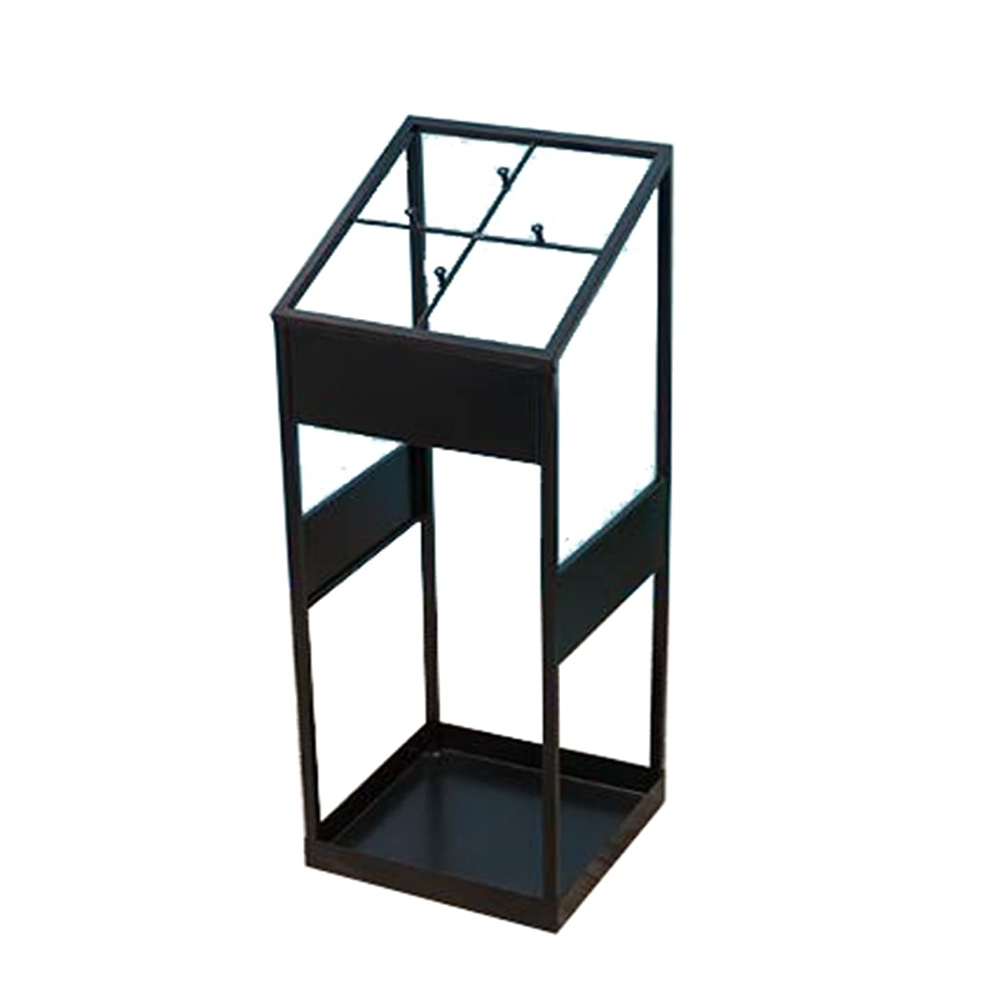 Rack Shelf Fashion Umbrella Pail Wrought Iron Umbrella Stand Storage Umbrella Stand Umbrella Tube 27cm27cm62cm (Color : Black)