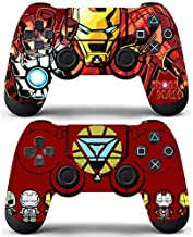 Decal Moments Playstation 4 Controller PS4 Dualshock Controllers Wireless Skin Vinly Skins Decals Stickers Covers Iron Man (Pack of 2)