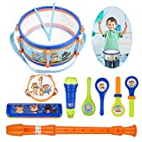 iBaseToy Toddler Musical Instruments Toys, Kids Drum Set, Percussion Musical Set...