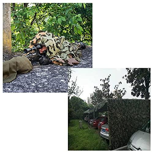 HLMBQ Red de Camuflaje para la Caza,Malla de Camuflaje Militar,para Decorar camufar y Dar Sombra 2x3M,1.5x4M,2x5M,2x6M,2x8M,3x3M,3x6M,4x5M,4x6M,5x5M,6x6M