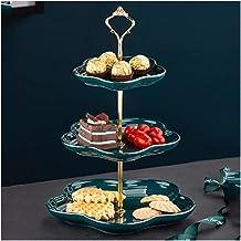 WYFC Stand de gâteau en céramique Fleur de Fleurs Pâtisserie Pays-Jacques Cupcakes Fruit Après-midi Tea Anniversaire fête ...