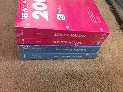 2002 Chevrolet CHEVY Malibu Service Shop Repair Workshop Manual Set W Transmission Unit Books