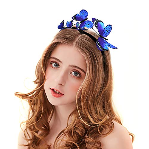 Zoylink Schmetterlings Stirnband Party Stirnband Exquisite Hair Hoop Party Headpiece für Frauen