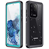 RedPepper for Galaxy S20 Ultra Waterproof Case, Protective Clear Cover with Built-in Screen Protector, IP68 Waterproof Shockproof Case for Samsung Galaxy S20 Ultra 6.9 Inch (Teal/Clear)