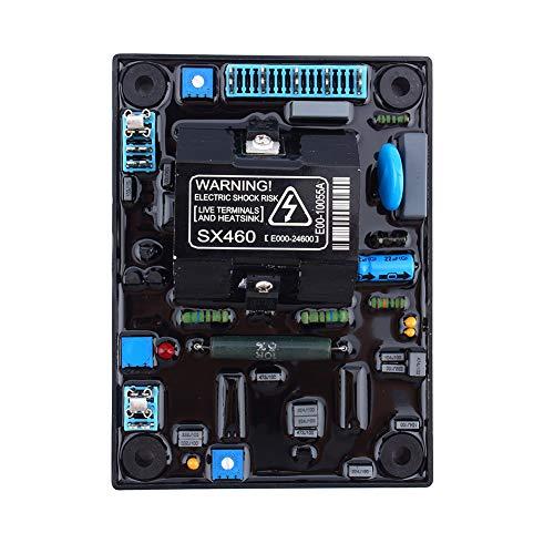 FTVOGUE Genset AVR SX460 de rendement élevé de convertisseur de régulateur de Tension Automatique pour Le générateur abaissant Le Module de pièces de Rechange de l'électronique Bleu