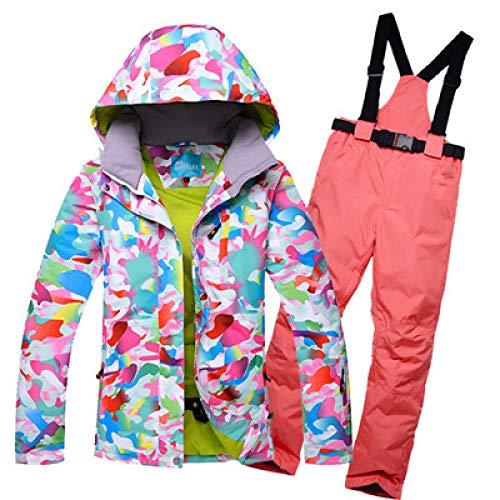 ZYJANO ski-pak Ski-jas Snowboard Broek Nieuw, Vrouwelijke Pak Buiten Waterdicht Zuid Dubbele Doard Lange Zwarte Ski Suit,