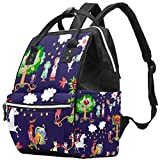 Wickeltasche, Erdbeere, Gurke, Rucksack für Mütter und Väter, großes Fassungsvermögen, weit offenes Design, wasserdicht, hält warm