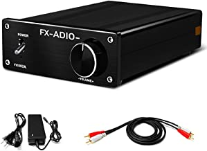 FX AUDIO HiFi Class D Amplifier Home Audio Stereo Amp 160W x 2 with 32V 5A DC Power Supply for Home System FX1002A(Black)