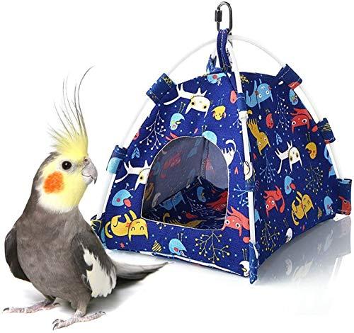 Wonninek Winter Warm Tenda per Uccelli, con Amaca Imbottita per Pappagallo, Adatta a parrocchetti, Budgie, cacatua, conuri, canarini, fringuelli, inseparabili, cenerini Gabbia persico(S)