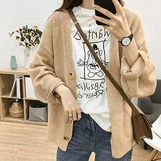 SDJYH suéteres y Jerseys de Mujer Otoño Invierno Jersey de Manga Larga suéter de Punto Informal 5 Colores