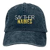 N \ A Say Your Names Gorra de béisbol ajustable Casquette Classic Baseball Sombreros Accesorios Sombrero de Sol Unisex Sombrero de Papá Azul Marino