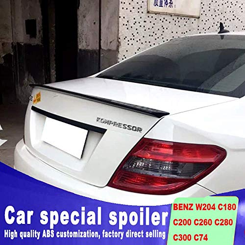 NZ-CJ Abs-Material Heckspoiler Für Mercedes Benz W204 C180 C200 C260 C280 C300 C74 2008 Bis 2013 Heckspoiler Heckflügel, Schwarz