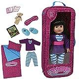 The New York Doll Collection Fiesta de Pijamas Lecho Viaje Bolso Uno Trozo Conjunto Con 9 Accesorios...