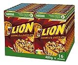 Cereales Nestlé Lion - Cereales de trigo y arroz tostados con crema de caramelo y chocolate - 16 paquetes x 400g