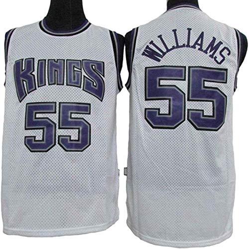 WSUN Maglia da Basket da Uomo NBA Sacramento Kings 55# Jason Williams Jersey NBA Unisex Top Senza Maniche Magliette da Competizione per Sport all'Aria Aperta Gilet,S